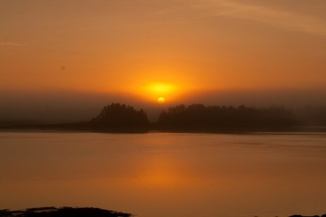 Sunrise at Cobscook State Park, Maine