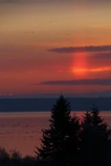 Solar pillar at New Horton, NB